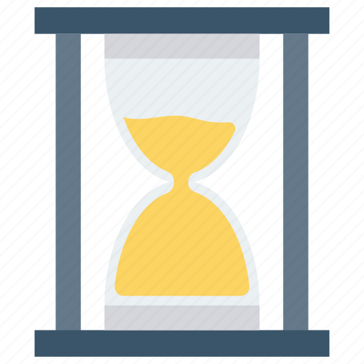 clock, glass, hour, hourglass, sand, sandglass, timer icon icon