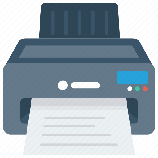 device, electronic, fax, print, printer icon icon