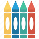 colours, crayons, pencil, school, supplies icon icon