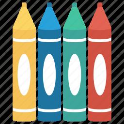 colours, crayons, pencil, school, supplies icon icon