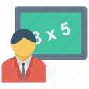 education, math, student, teacher icon icon