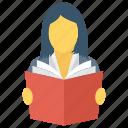 college student, female graduate, graduate, scholar, student, student avatar icon