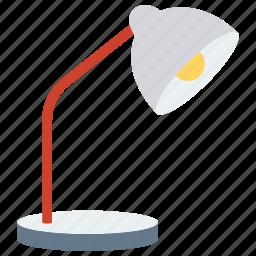 desk lamp, desk light, lamp, lamp light, table lamp icon icon
