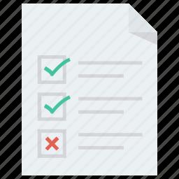 document, paper, split test, test icon icon