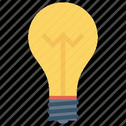 bulb, idea, innovation, invention, lightbulb icon icon