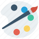 paint, paint brush, painting palette, palette icon icon