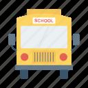 bus, bus school, school, school bus icon, • autobus icon