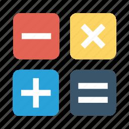 calculate, calculator, education icon icon