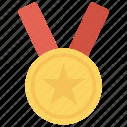 award, gold, medal, star icon icon