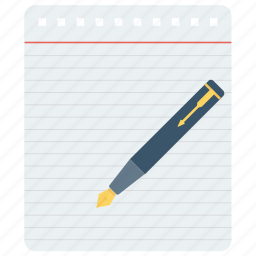 note, paper, pen, pencil, writing icon icon