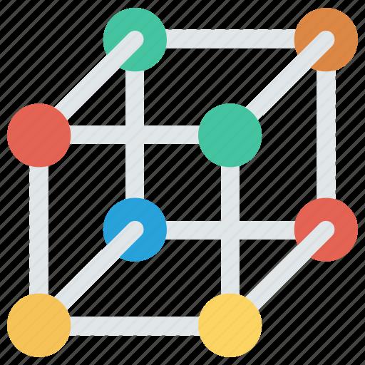 molecule, molecule shape, science icon, • cube molecule icon