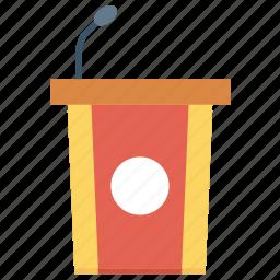 dice, graduate, presenter, speaker icon icon