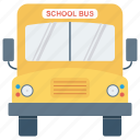 education, school bus, transport icon icon