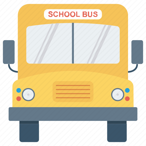 education, school bus, transport icon icon
