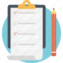 checklist, checklist to do list, task list, work order, work plan icon