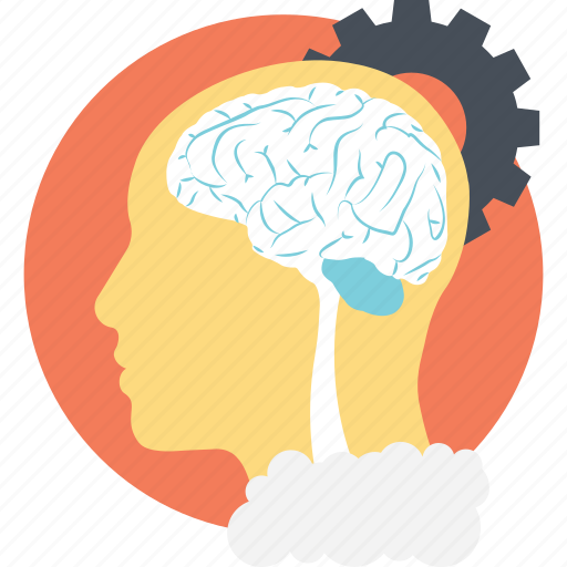 brain gear, creative thinking, genius, human mind, intelligent icon