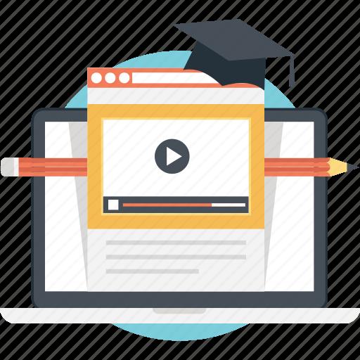 Distance learning, elearning, modern education, online education, online learning icon - Download on Iconfinder