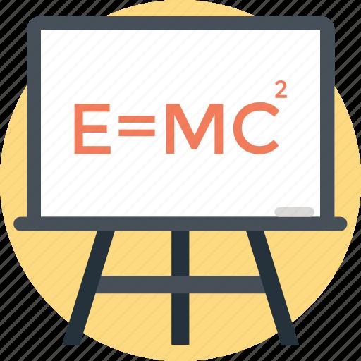 Einstein formula, emc2, formula, physics, scientific formula icon - Download on Iconfinder