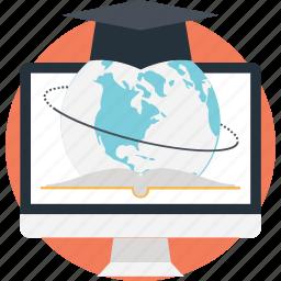 distance learning, elearning, modern education, online education, online learning icon