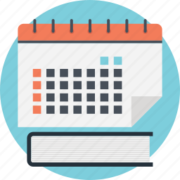 calendar notes, diary, diary planner, schedule, timetable icon