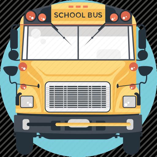 Autobus, bus, school bus, transport, vehicle icon - Download on Iconfinder