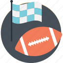 american football, ball, flag, rugby ball, sports icon