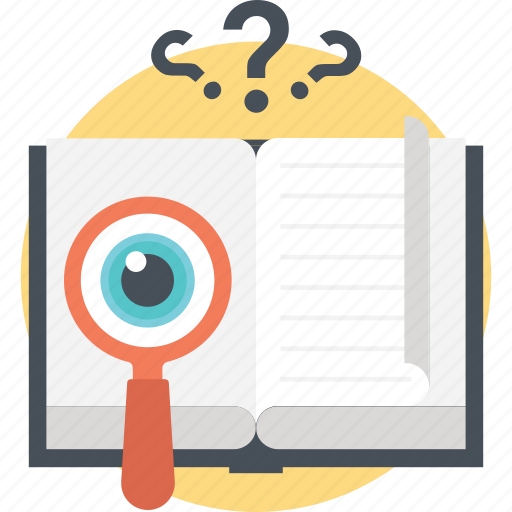 book magnifying, dictionary loup, education, enhanced vision, text reading icon