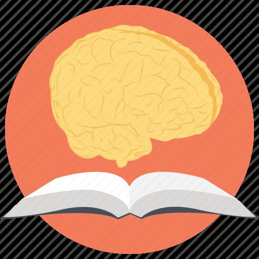 Book brain, brain reading, creative thinking, knowledge, super brain icon - Download on Iconfinder