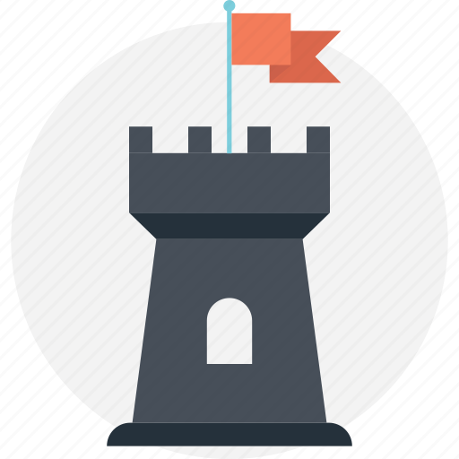 Building, castle, castle flag, fortress, palace icon - Download on Iconfinder