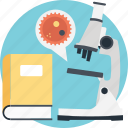 biochemistry, microbiology, microscope, research, science research icon