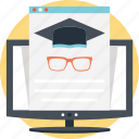 distance learning, elearning, modern education, online education, online learning icon