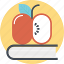 back to school, apple on book, apple education, learning, education concept
