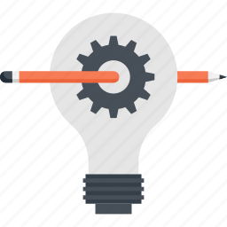 bulb, concept, design, development, idea, lamp, light icon