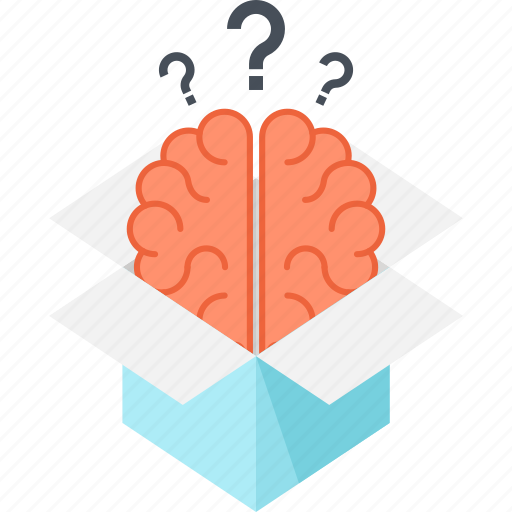 box, brain, brainstorming, education, idea, knowledge, thinking icon