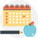 academic year, back to school, school calendar, school year, starting school icon