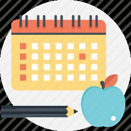 academic year, back to school, school calendar, school year, starting school icon