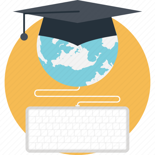 digital education, elearning, global education, online degree, online scholarship, wisdom, worldwide education icon