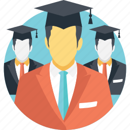 avatars, graduates, postgraduates, scholars, students icon