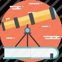astronomy, astronomy book, spyglass, telescope, vision icon