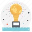 big idea, bulb trophy, innovation award, lightbulb award icon
