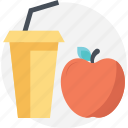 apple juice, beverage, drink, healthy drink, natural diet icon