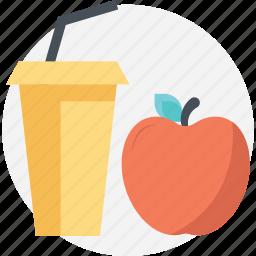 apple juice, beverage, drink, healthy drink, natural diet icon
