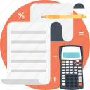 accounting, calculation, estimate, math, mathematics icon