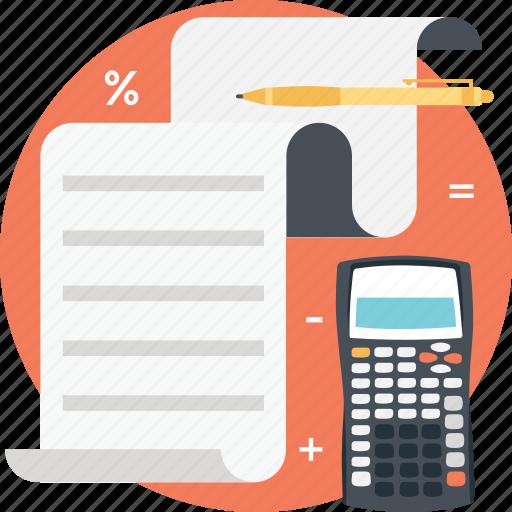 accounting, calculation, estimate, math, mathematics icon