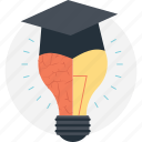 bright future, creative education, education inspiration, ingenious, motivation icon