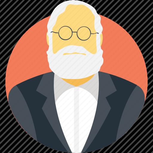 avatar, manager, professor, scholar, teacher icon