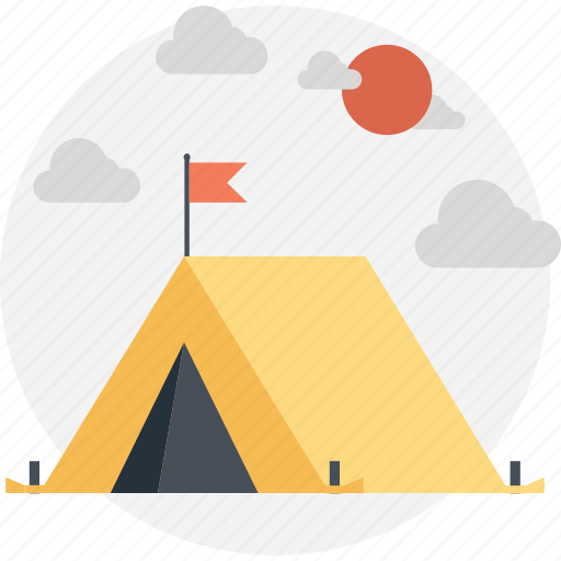 camp, camping tent, outdoors, tent, tent house icon