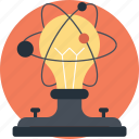 atom bulb, molecular, molecular bulb, physics, technology icon