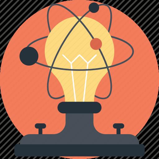 atom bulb, molecular, molecular bulb, physics, technology icon