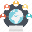 affiliate, global community, global network, global village, network community icon